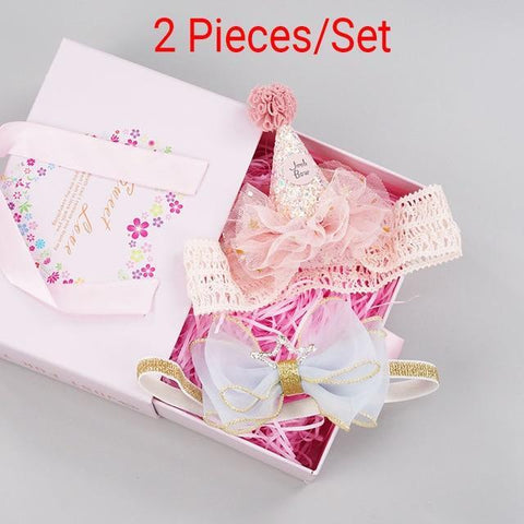 Baby Girls Hairband Accessories Set 2 Pieces