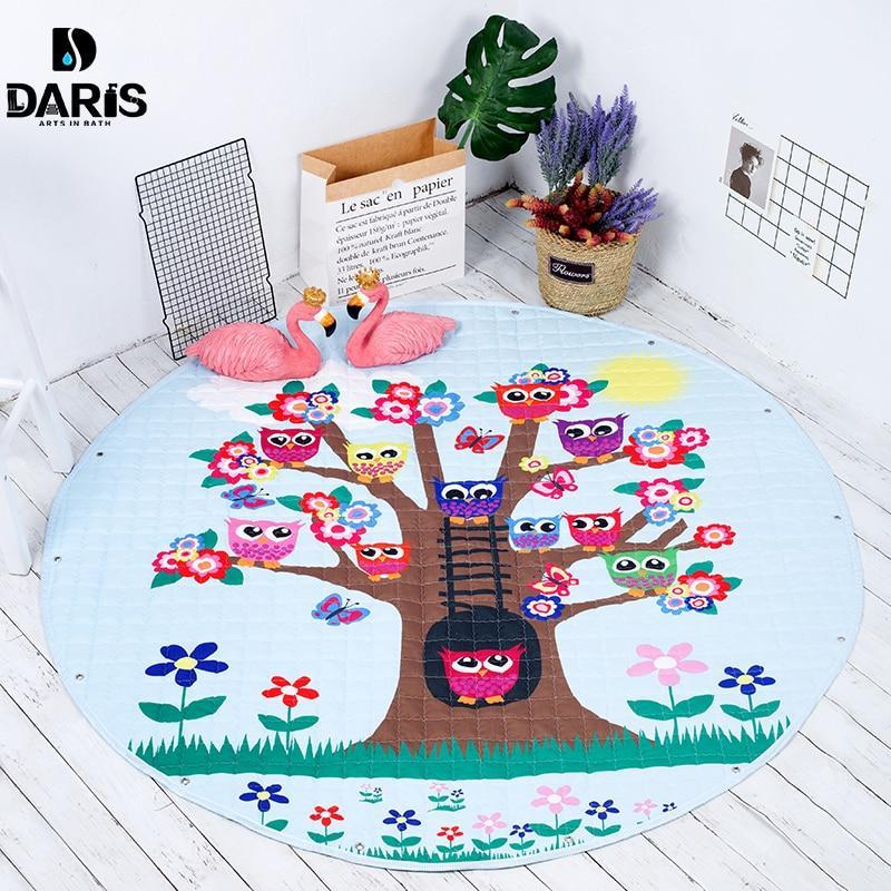 Baby Playing Floor Blanket Mat Come Kids Toy Storage Basket 12