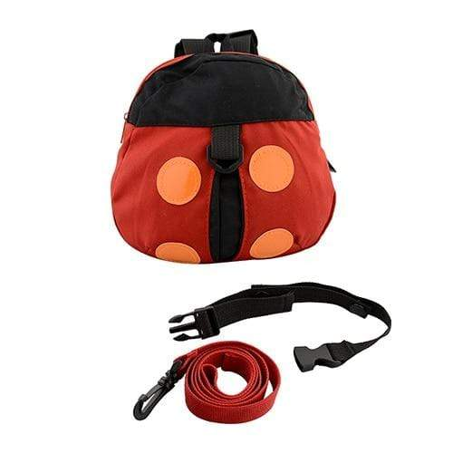 Baby Walking backpack With Safety Leashes ladybug
