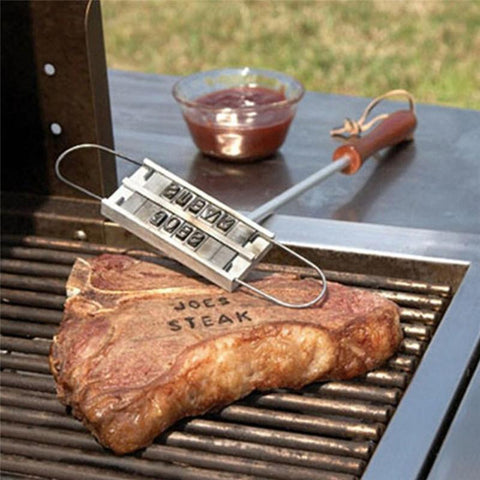 Barbecue Security Tools Stamp Hot Stamping Personality Changeable 55 Letters Steak Mold Barbecue Meat Tool Outdoor 301-0386