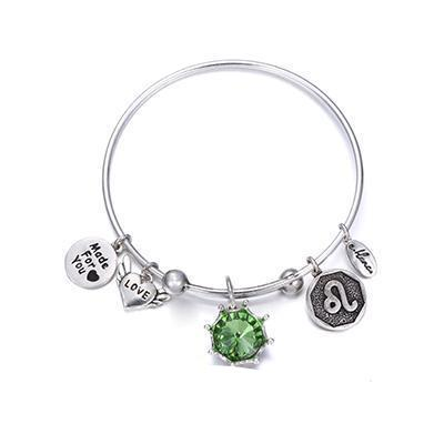 Birthstone Twelve Constellations Fine Bangles August / Silver e-Manco Official Store