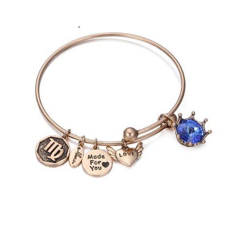 Birthstone Twelve Constellations Fine Bangles e-Manco Official Store