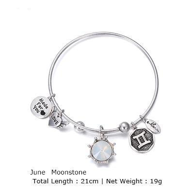Birthstone Twelve Constellations Fine Bangles June / Silver e-Manco Official Store