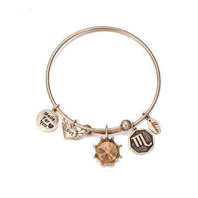 Image of Birthstone Twelve Constellations Fine Bangles November / Silver e-Manco Official Store