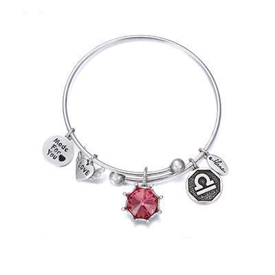 Image of Birthstone Twelve Constellations Fine Bangles October / Silver e-Manco Official Store