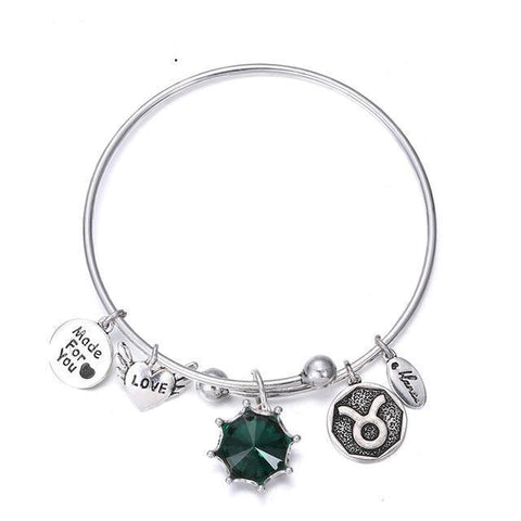 Birthstone Twelve Constellations Fine Bangles Sagittarius / Silver joeypatch