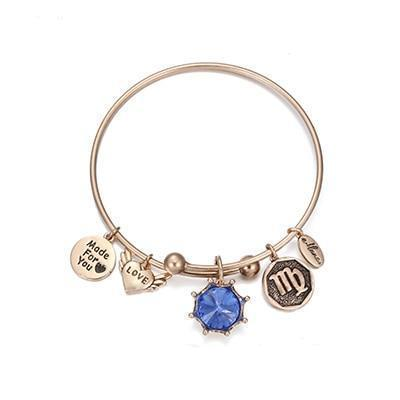 Birthstone Twelve Constellations Fine Bangles September / Silver e-Manco Official Store