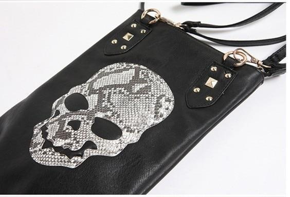 Black Skull Face  Women's Shoulder Bag