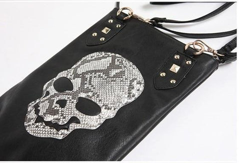 Image of Black Skull Face  Women's Shoulder Bag