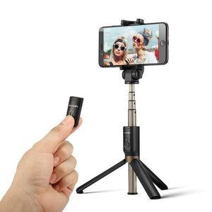 Bluetooth Selfie Stick With Extendable Tripod Black