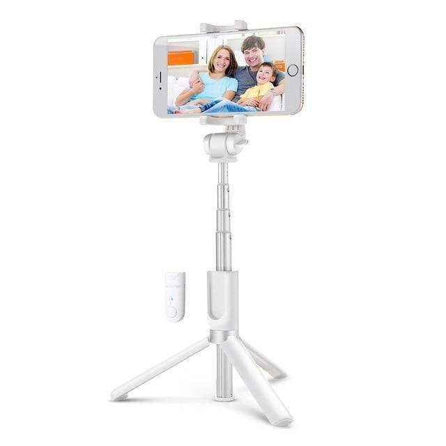 Bluetooth Selfie Stick With Extendable Tripod White