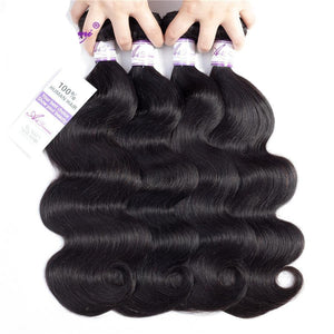 Brazilian Non Remy Body Wave 100% Human Hair Weave Natural Hair Extension 8inches