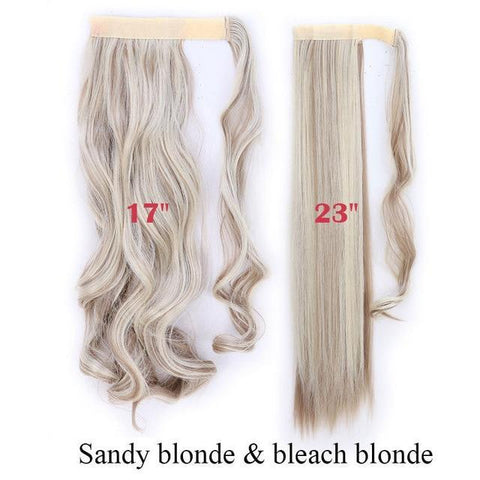 Image of Clip In Synthetic Wrap Around Pony Tail Hair Extension For Women 16P613 / Wavy