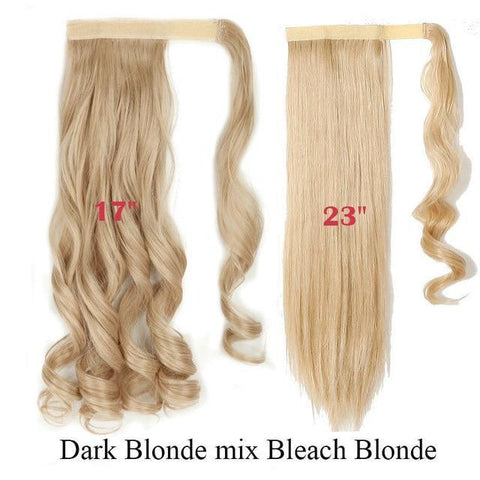 Clip In Synthetic Wrap Around Pony Tail Hair Extension For Women 18-613 / Wavy