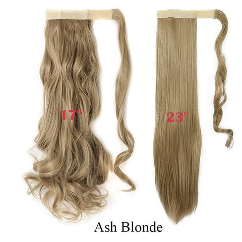 Clip In Synthetic Wrap Around Pony Tail Hair Extension For Women 24 / Wavy