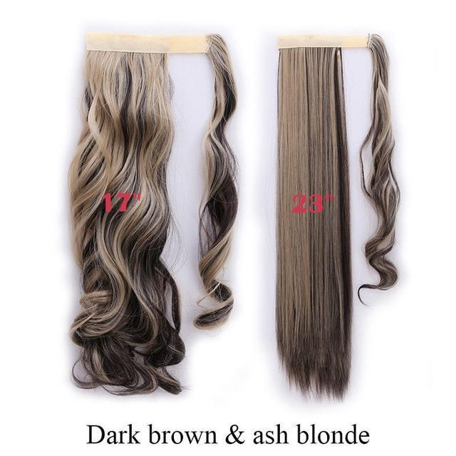 Clip In Synthetic Wrap Around Pony Tail Hair Extension For Women 4AP24A / Wavy