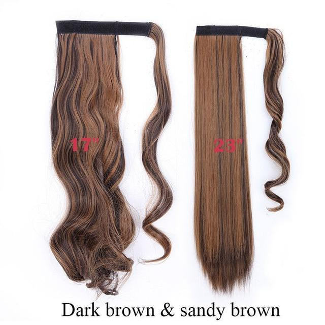 Clip In Synthetic Wrap Around Pony Tail Hair Extension For Women 4AP27A / Wavy