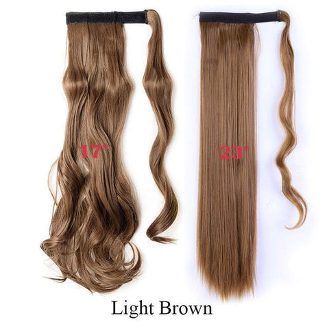 Image of Clip In Synthetic Wrap Around Pony Tail Hair Extension For Women 6 / Wavy