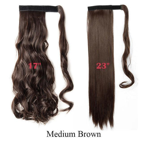 Image of Clip In Synthetic Wrap Around Pony Tail Hair Extension For Women M4 / Wavy