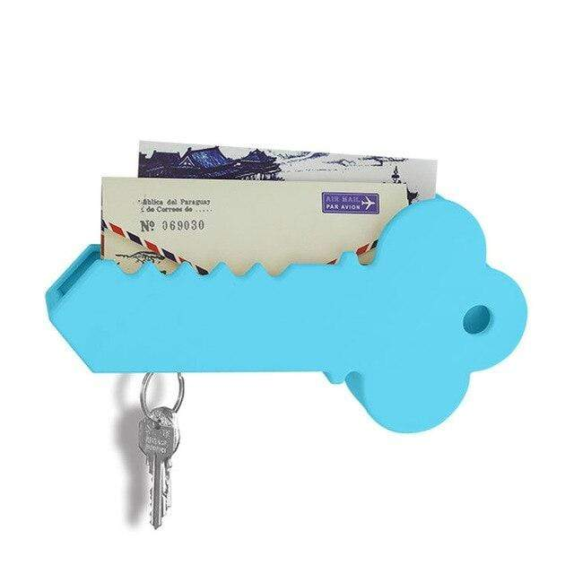 Creative home magnetic key suction Anti-lost key hang Household storage accessories Fashion gift 301-0716 blue
