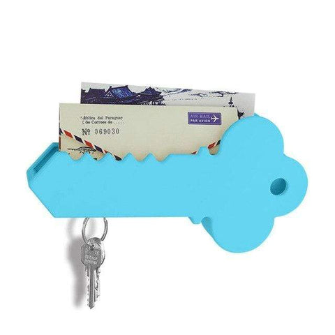 Image of Creative home magnetic key suction Anti-lost key hang Household storage accessories Fashion gift 301-0716 blue
