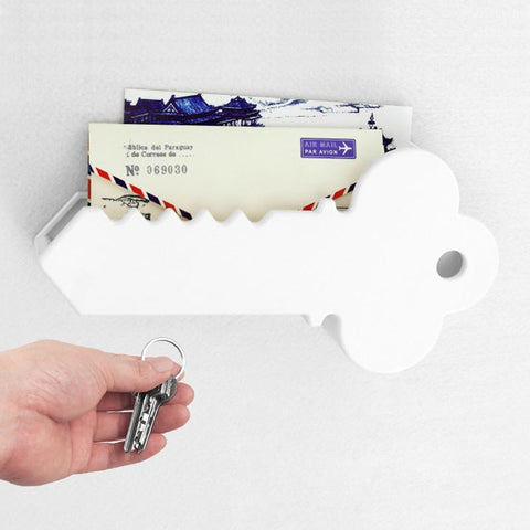 Image of Creative home magnetic key suction Anti-lost key hang Household storage accessories Fashion gift 301-0716 white