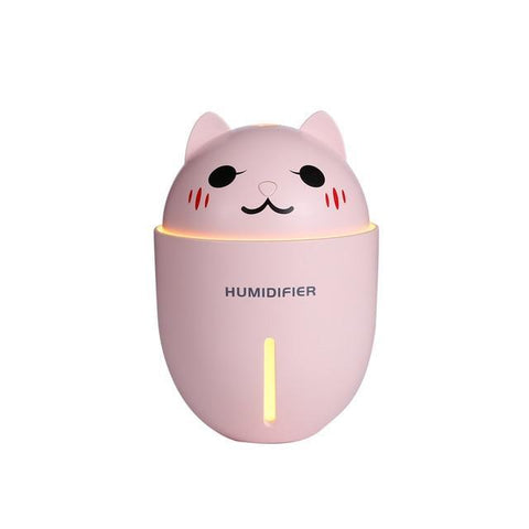 Image of Cute Cat 3 in 1 320ML USB Air Humidifier Pink