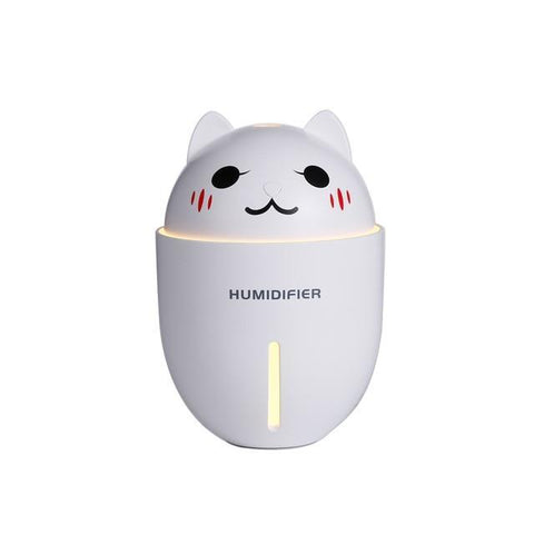 Image of Cute Cat 3 in 1 320ML USB Air Humidifier WHITE