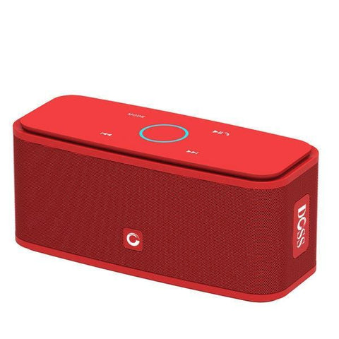 DOSS Portable SoundBox Touch Control Bluetooth Speaker Red
