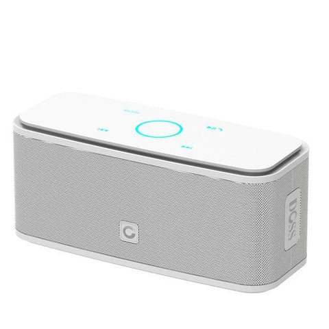 DOSS Portable SoundBox Touch Control Bluetooth Speaker White