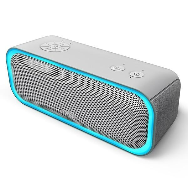 DOSS SoundBox Pro Bluetooth Speaker with Flashing LED And IPX5 Waterproof Gray