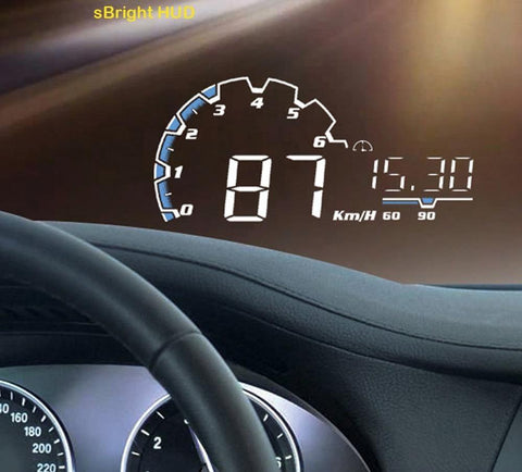 Image of EANOP sBright Car HUD Head up display 5.5 inch obd2 Car Dashboard Speedometer hud film Over Speed Alarm & Car Detector joeypatch