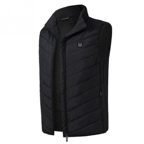 Electric Heated Thermal Vest Winter Jacket Black / S joeypatch