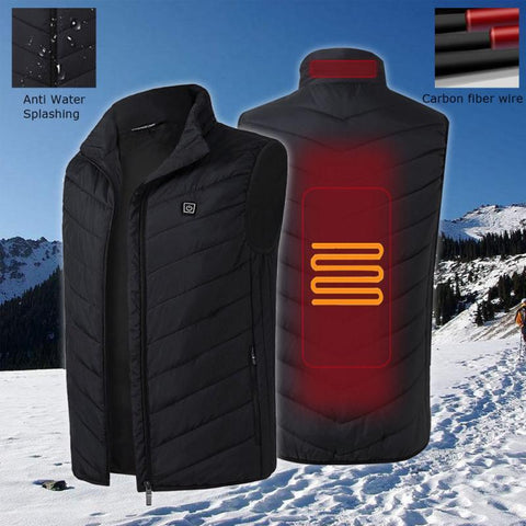Image of Electric Heated Thermal Vest Winter Jacket joeypatch