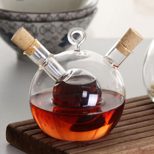 ELETON Delicate western restaurant refractory glass caster Oil vinegar bottle of soy sauce kitchen supplies jars Storage Bottles