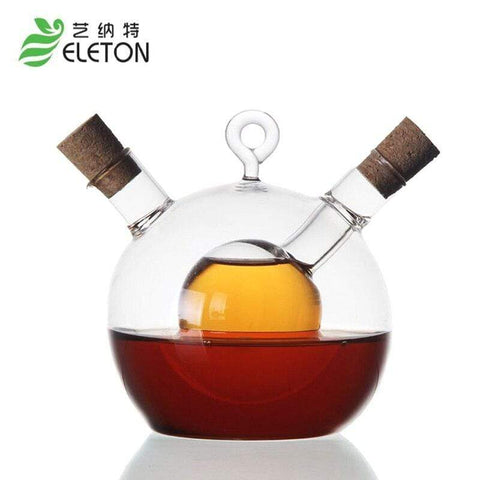 Image of ELETON Delicate western restaurant refractory glass caster Oil vinegar bottle of soy sauce kitchen supplies jars Storage Bottles