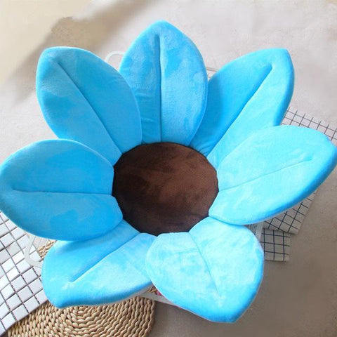 Image of Flower Shape Sponge Baby Bath Cushion blue / 80cm joeypatch