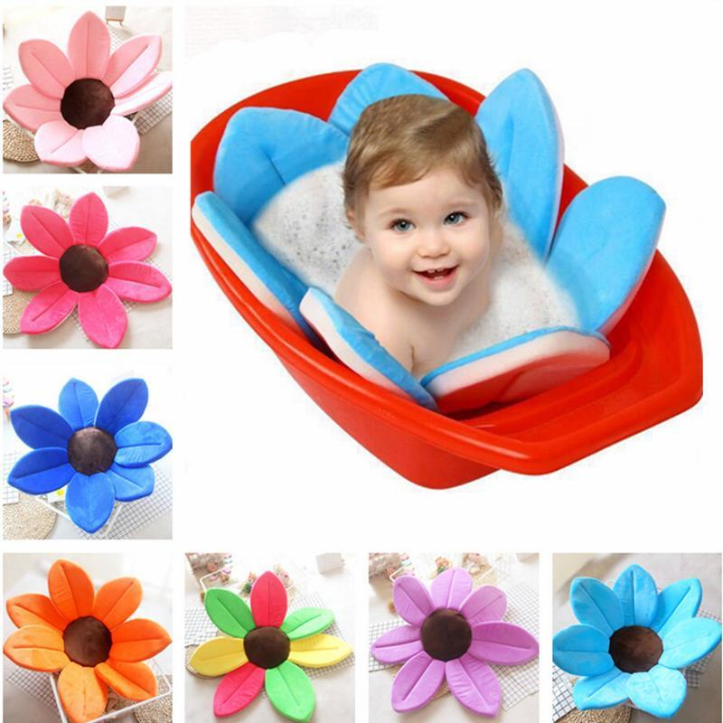 Flower Shape Sponge Baby Bath Cushion joeypatch