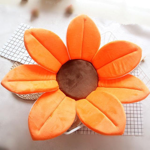 Image of Flower Shape Sponge Baby Bath Cushion orange / 80cm joeypatch
