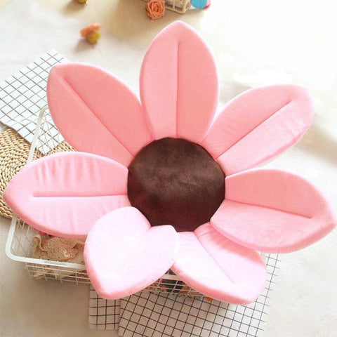 Image of Flower Shape Sponge Baby Bath Cushion pink / 80cm joeypatch
