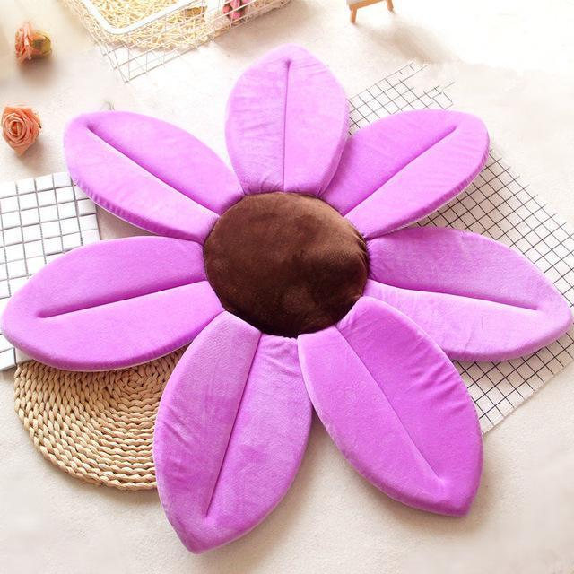 Flower Shape Sponge Baby Bath Cushion purple / 80cm joeypatch