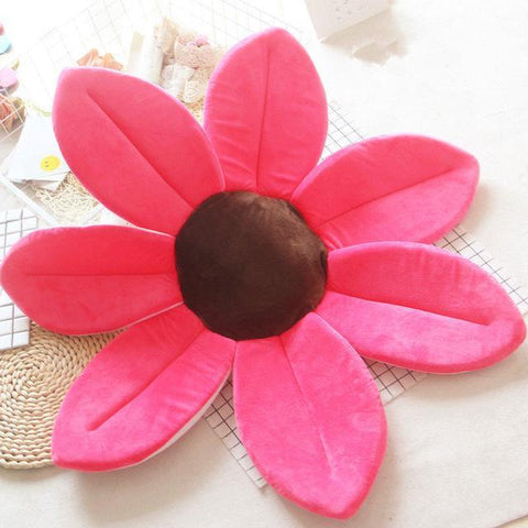 Image of Flower Shape Sponge Baby Bath Cushion rosy / 80cm joeypatch
