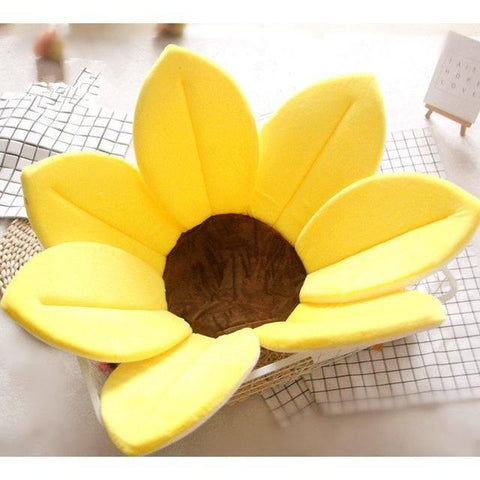 Image of Flower Shape Sponge Baby Bath Cushion yellow / 80cm joeypatch