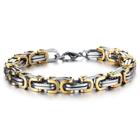 Geometry Spliced Stainless Steel Hand Chain Trendy bracelet Charm Bracelets gold Casia Garden88 Store
