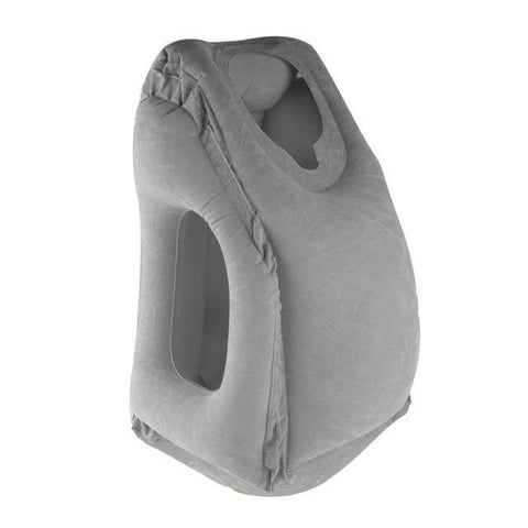 Inflatable innovative Body and Back Support Foldable Blow Neck Travel Pillow Travel Pillows grey Knights Store