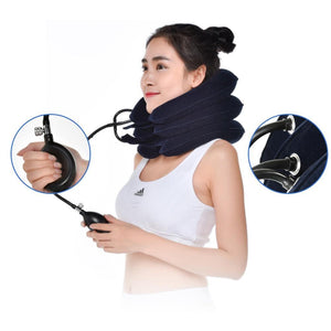 Inflatable Neck Pillow for Cervical Neck and Head Pain Traction Support Travel Pillows lotsgoods88