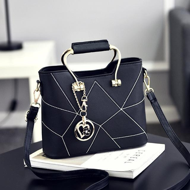 Ladies' PU Leather Luxury Designer Shoulder Bags Shoulder Bags Black SDRUIAO franchise Store