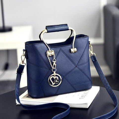 Image of Ladies' PU Leather Luxury Designer Shoulder Bags Shoulder Bags Blue SDRUIAO franchise Store