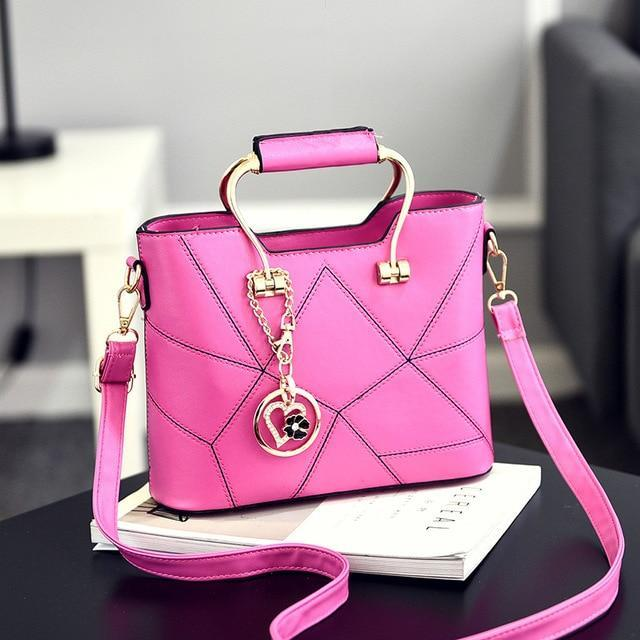 Ladies' PU Leather Luxury Designer Shoulder Bags Shoulder Bags Hot Pink SDRUIAO franchise Store