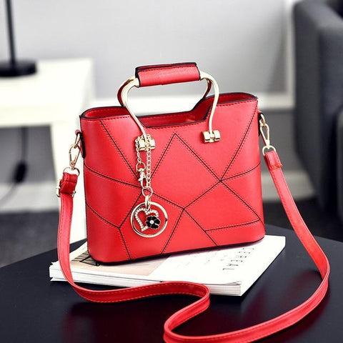 Ladies' PU Leather Luxury Designer Shoulder Bags Shoulder Bags Red SDRUIAO franchise Store